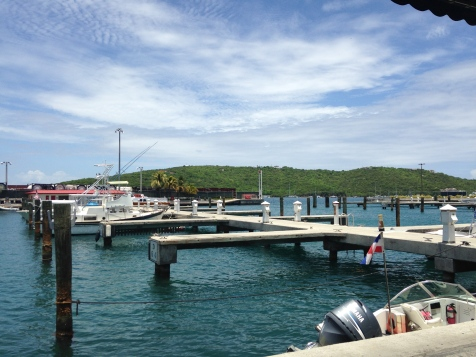 The dock for the ferry to the cutest beach bar.